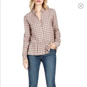 Paige Plaid Peplum Top